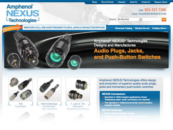 Amphenol Nexus Technologies website