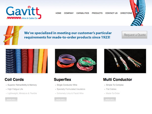 Gavitt Wire website